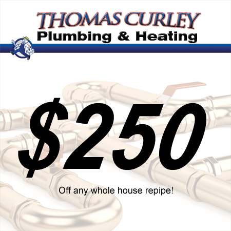 Save $250 off your whole house repipe in Manhasset, Great Neck and surrounding areas in New York!