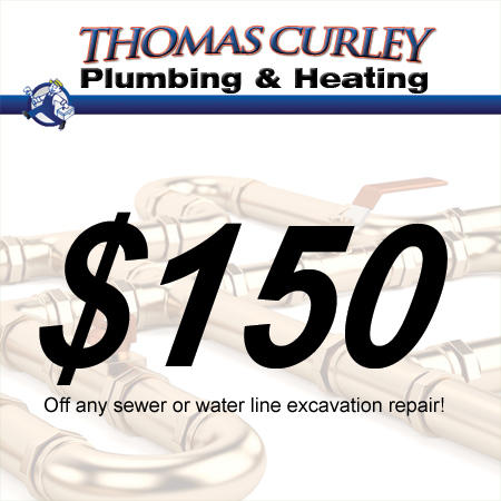 Save $150 off sewer or water line excavation in Manhasset, Great Neck and surrounding areas in New York!